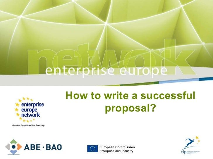 CIP Ecoinnovation – how to write a successful proposal