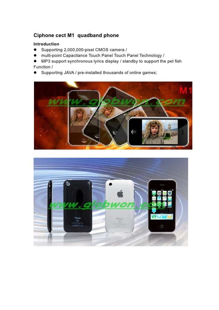 Ciphone cect M1 quadband phone Introduction Supporting 2,000,000-pixel CMOS camera / multi-point Capacitance Touch Pan...