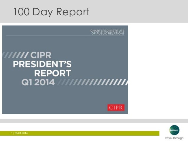 100 Days as CIPR President