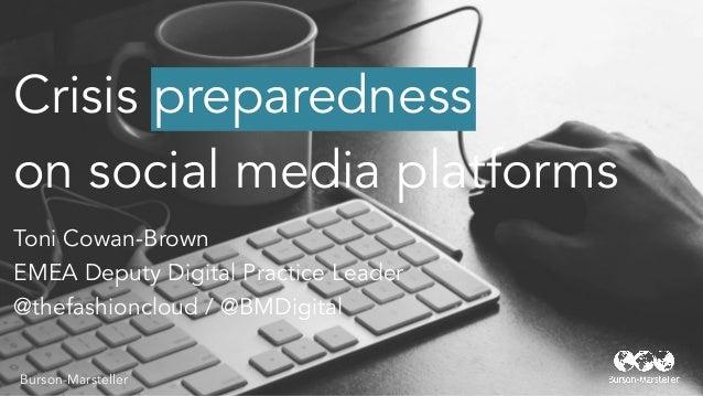 Crisis Preparedness on social media channels