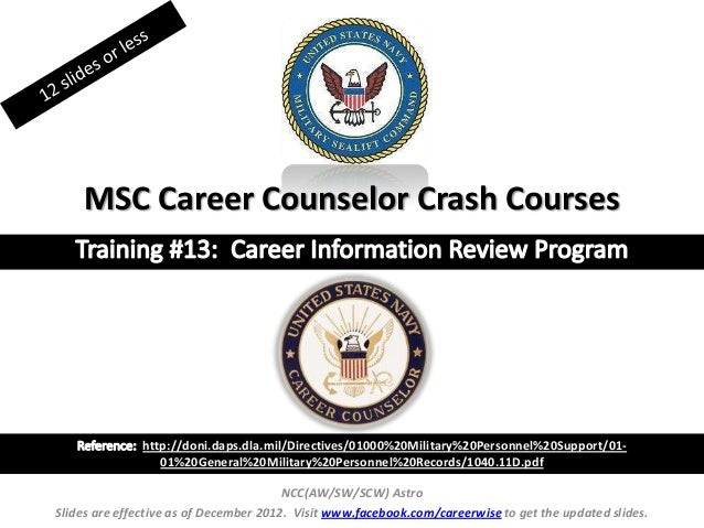 MSC Career Counselor Crash CoursesNCC(AW/SW/SCW) AstroSlides are effective as of December 2012. Visit www.facebook.com/car...