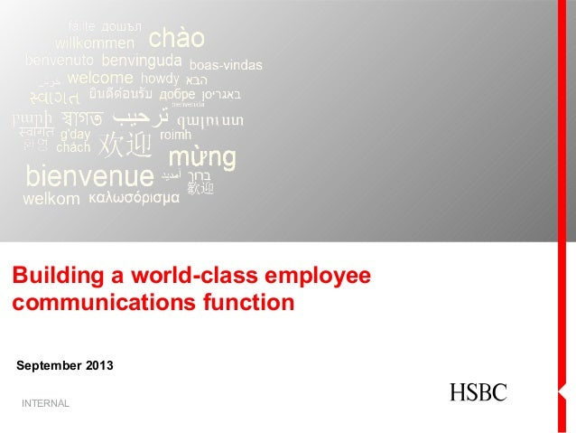 'Building a world-class internal communications function', presented by Fiona Gibson from HSBC