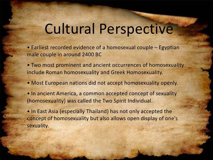 conflicting perspectives of traditional and homosexuality We've been talking about homosexuality in the a hard time communicating due to conflicting values and perspectives that in traditional christian morality.