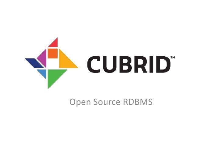 Open Source RDBMS<br />