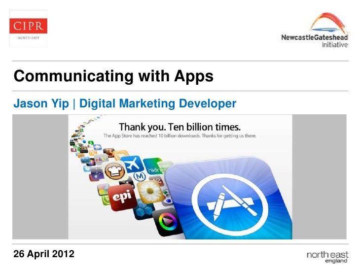 Cipr north east   communicating with apps