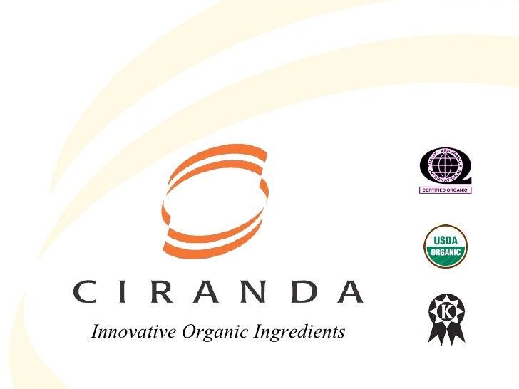 Innovative Organic Ingredients