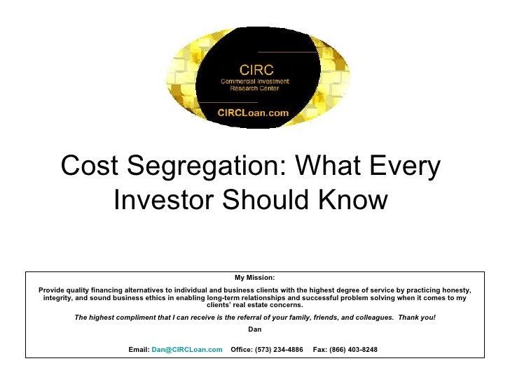 Circ   Cost Segregation