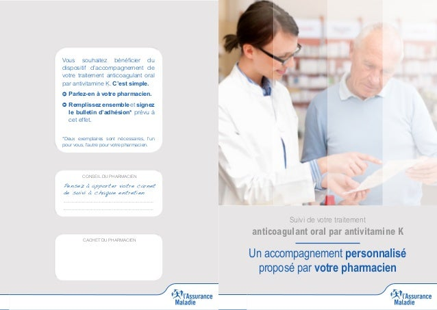 Vous souhaitez bénéficier du dispositif d'accompagnement de votre traitement anticoagulant oral par antivitamine K. C'est ...