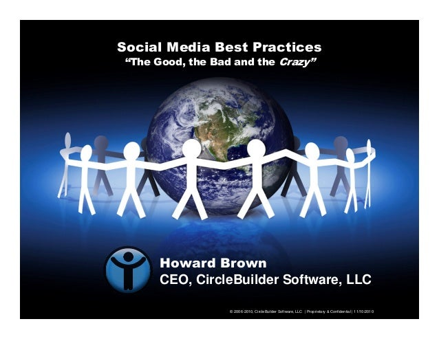 "Social Media Best Practices ""The Good, the Bad and the Crazy"" © 2006-2010, CircleBuilder Software, LLC 