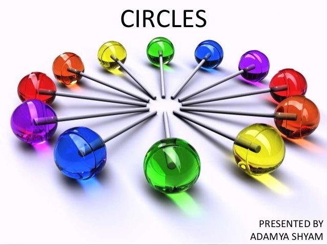CIRCLES           PRESENTED BY          ADAMYA SHYAM
