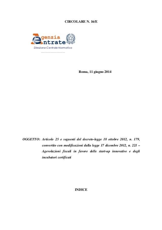 Agevolazioni fiscali per start-up innovative e incubatori certificati