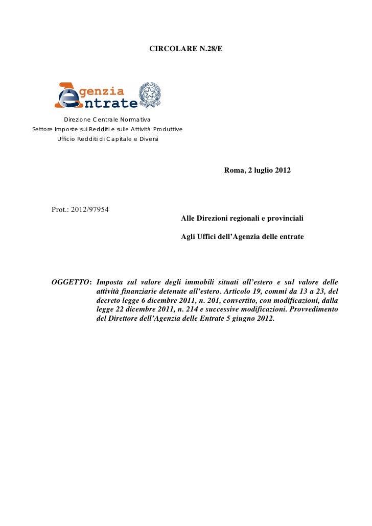Circolare ivie 28 2012