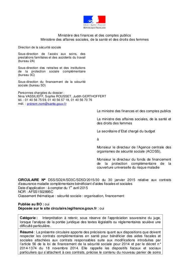 Ministère des finances et des comptes publics Ministère des affaires sociales, de la santé et des droits des femmes Direct...