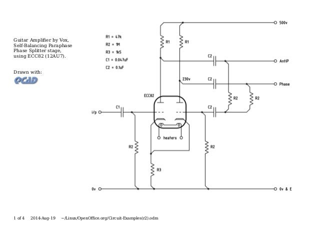 Valve & Amplifier Design, Circuit Examples