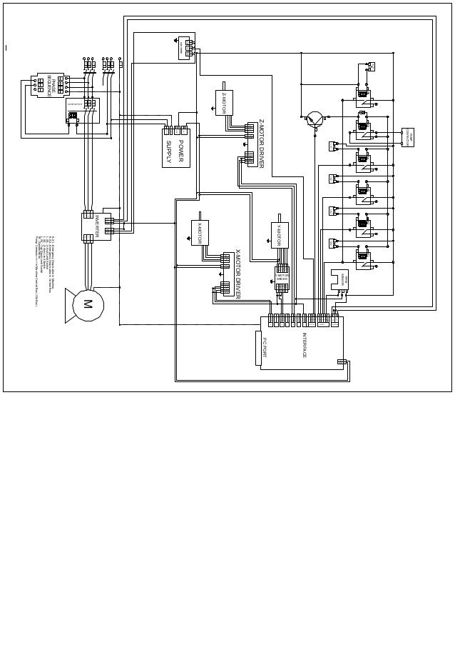 CNC Lathe Machine Circuit layout