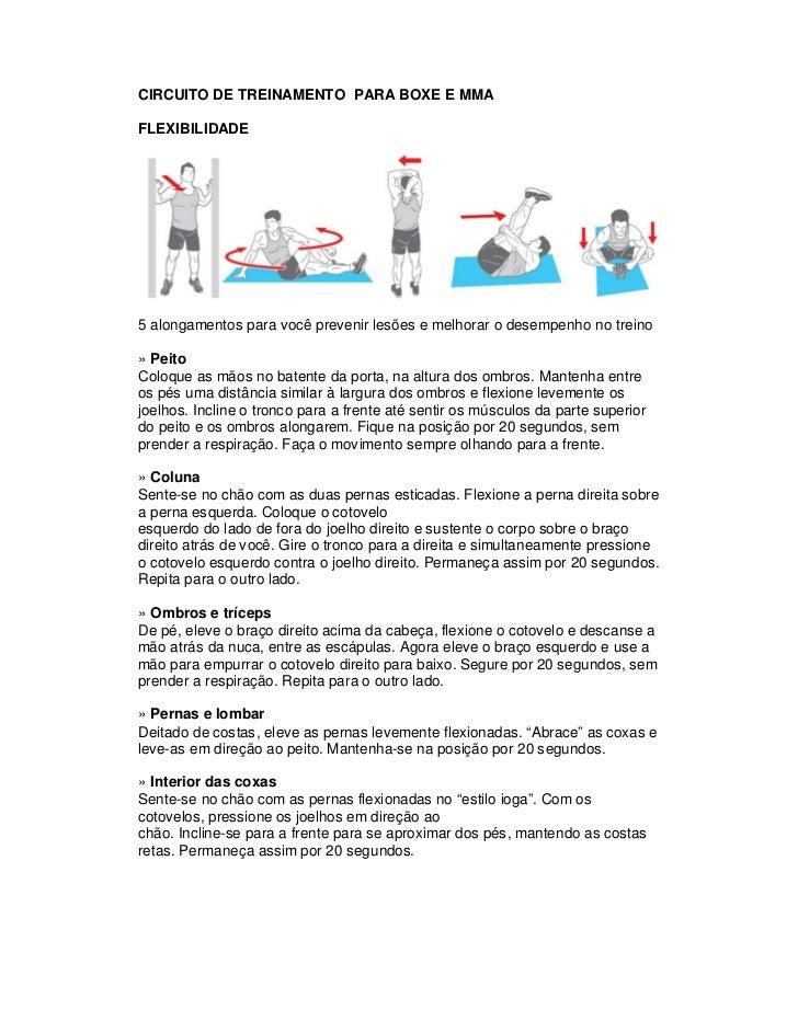 CIRCUITO DE TREINAMENTO PARA BOXE E MMAFLEXIBILIDADE5 alongamentos para você prevenir lesões e melhorar o desempenho no tr...