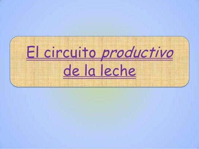 Circuito De La Leche : Circuito prod de la leche