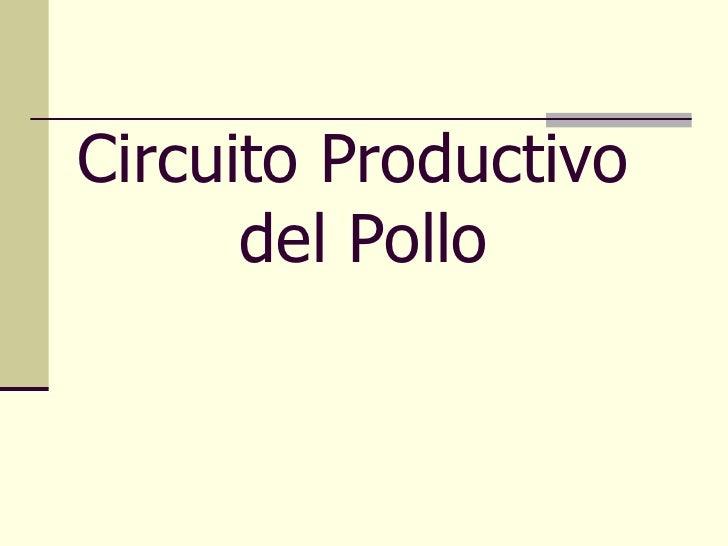 Circuito Productivo De La Lana : Circuito productivo del pollo