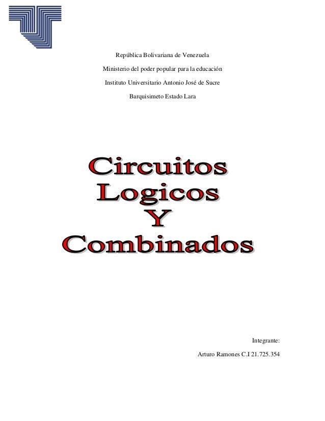 República Bolivariana de VenezuelaMinisterio del poder popular para la educaciónInstituto Universitario Antonio José de Su...