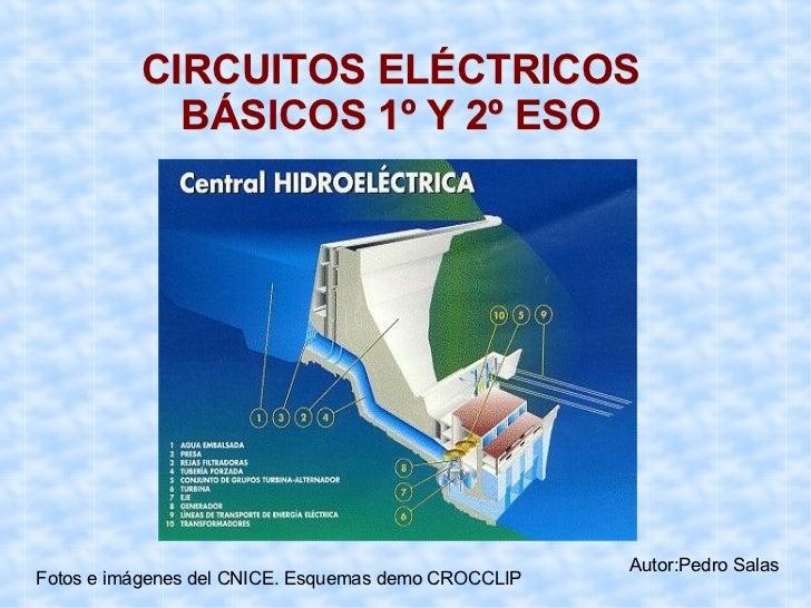 CIRCUITOS ELÉCTRICOS   BÁSICOS 1º Y 2º ESO Autor:Pedro Salas Fotos e imágenes del CNICE. Esquemas demo CROCCLIP