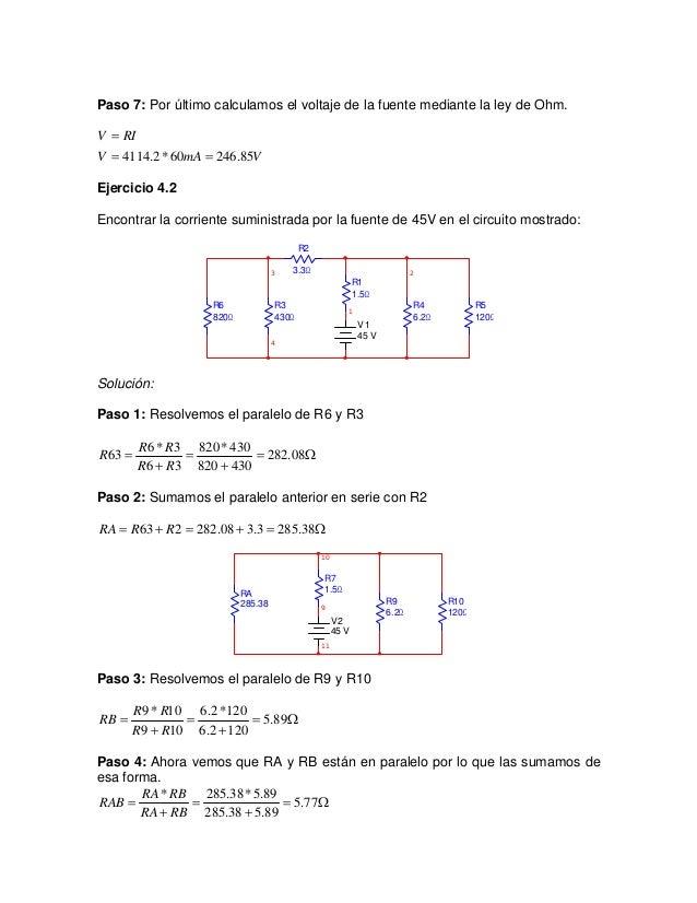 Voltaje Condensador Circuito Rlc Serie : Circuitos serie y paralelo ejercicios