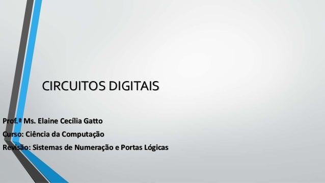 Circuitos Digitais: Revisão