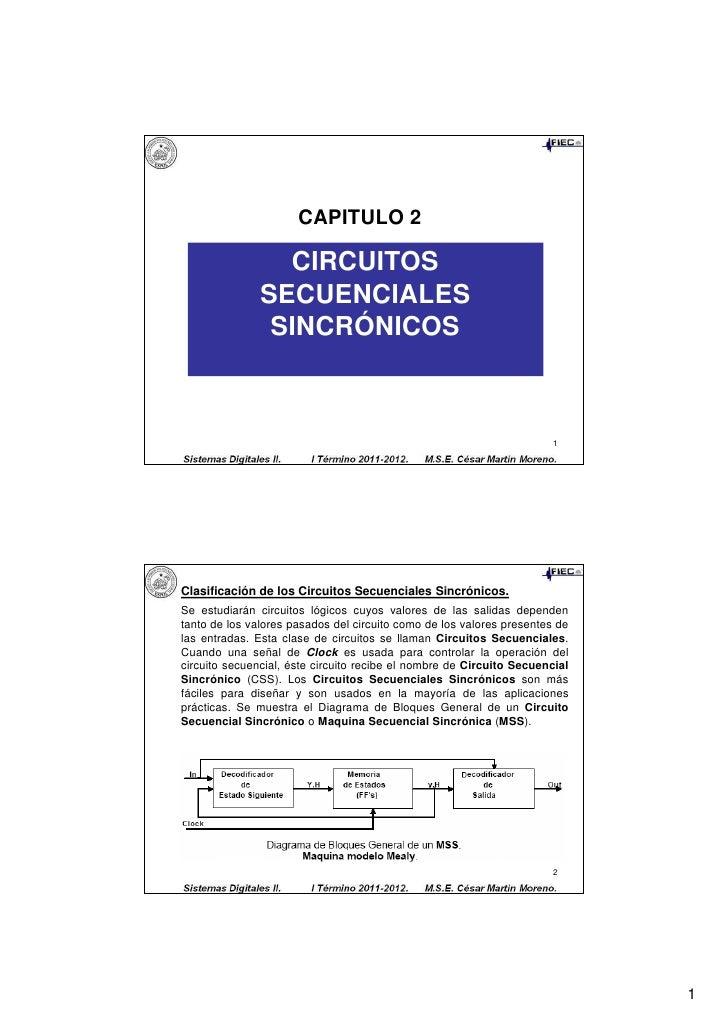 CAPITULO 2                 CIRCUITOS               SECUENCIALES                SINCRÓNICOS                                ...