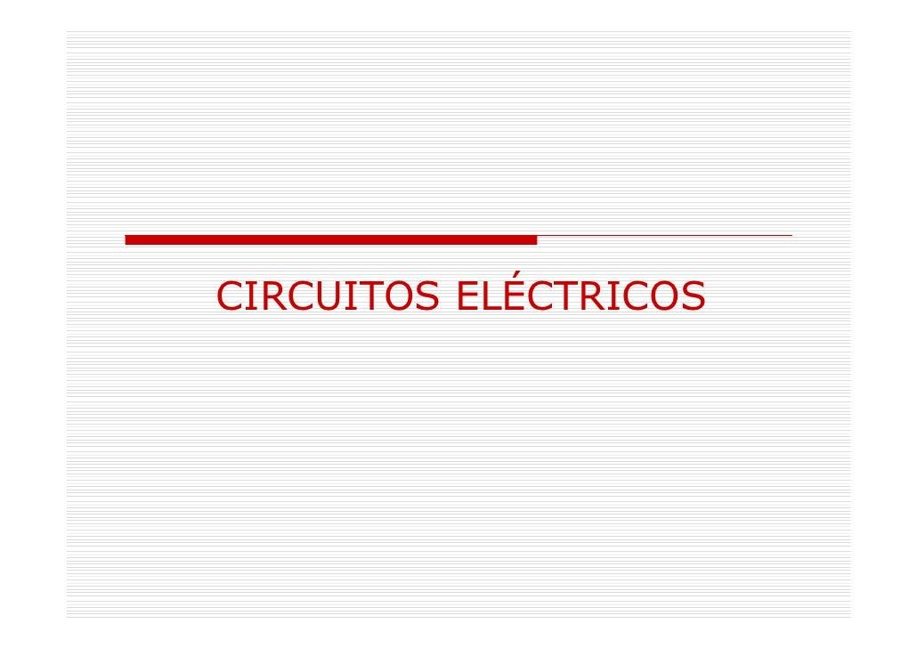 Circuitos Eléctricos Tecnología-4º de ESO