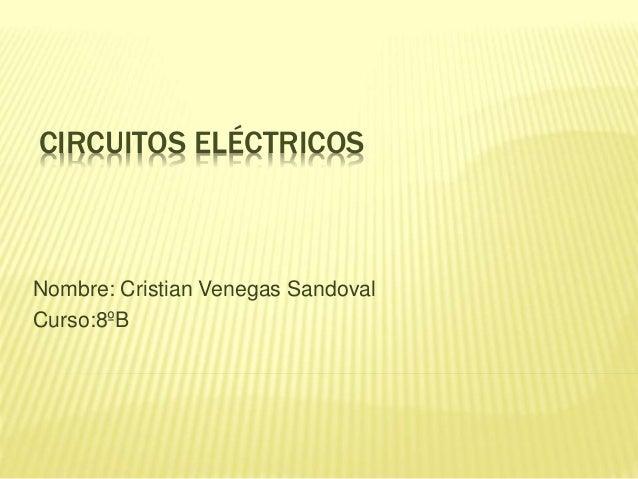 CIRCUITOS ELÉCTRICOS  Nombre: Cristian Venegas Sandoval  Curso:8ºB