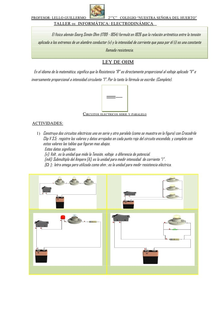 Circuitos ley de ohm huerto_2011