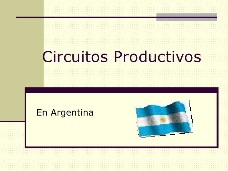 Circuito Productivo : Circuitos productivos