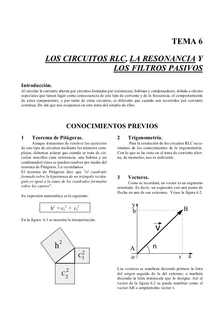 Circuito Rlc Ecuaciones Diferenciales : Circuitos rlc pri
