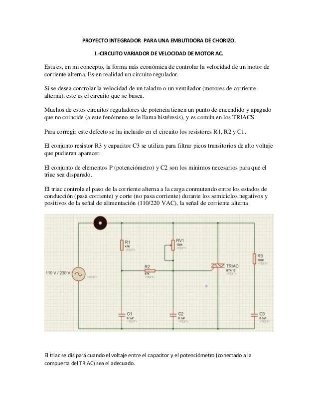 Circuito Variador De Frecuencia : Circuito variador de velocidad motor ac