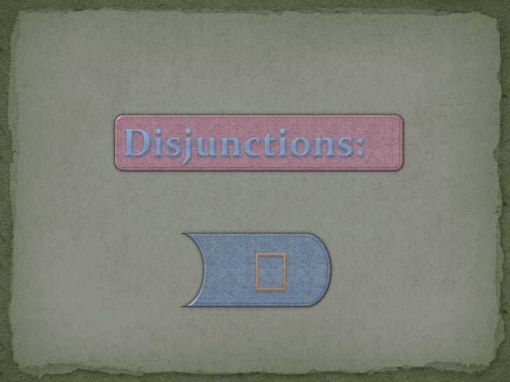 Circuits Disjunctions