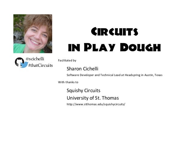 Circuits in Play Dough Facilitated by Sharon Cichelli Software Developer and Technical Lead at Headspring in Austin, Texas...