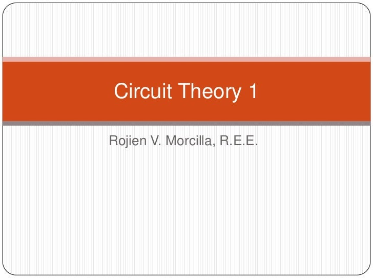 Circuit theory 1 finals
