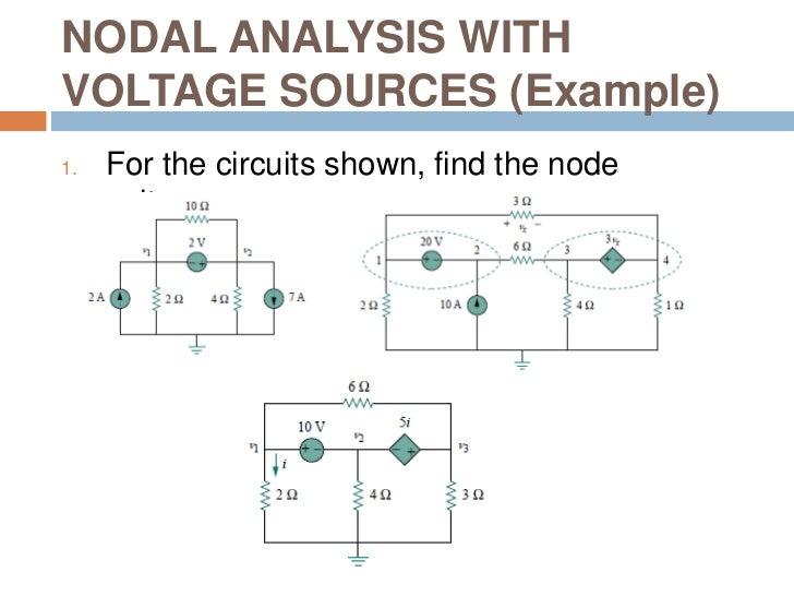 nodal analysis supernode examples pdf