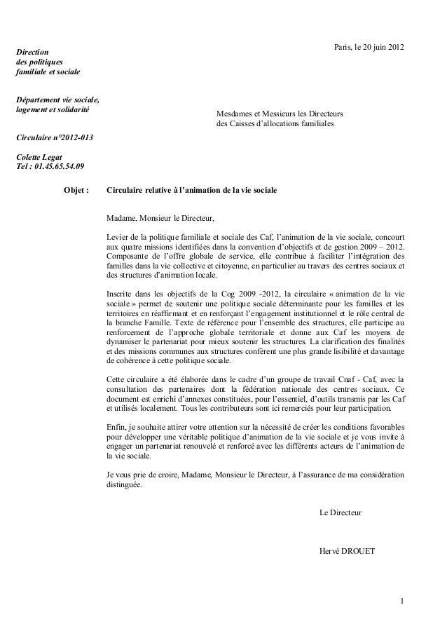Circulaire cnaf avs n2012-013 du 20 juin 2012