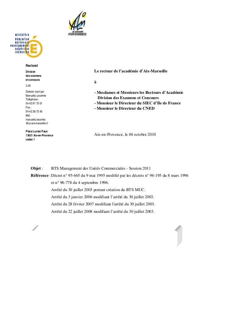 RectoratDivision                                         Le recteur de l'académie d'Aix-Marseilledes examenset concours   ...