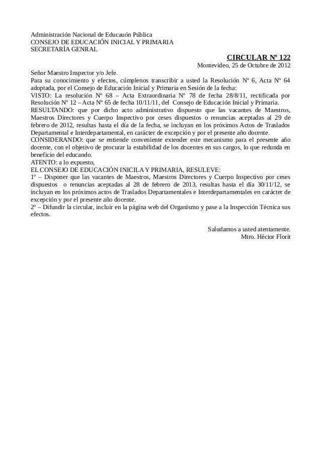 Administración Nacional de Educauón PúblicaCONSEJO DE EDUCACIÓN INICIAL Y PRIMARIASECRETARÍA GENRAL                       ...