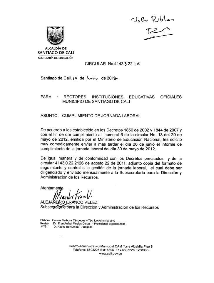 ropa ,   ?   ubc--    ALCALDÍA DESANTIAGO DE CALISECRETARÍA DE EDUCACIÓN                                   CIRCULAR No.414...