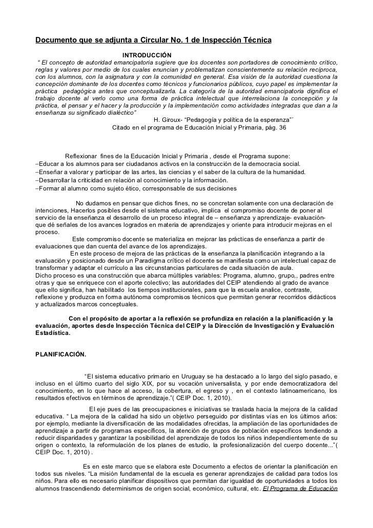"""Documento que se adjunta a Circular No. 1 de Inspección Técnica                                 INTRODUCCIÓN """" El concepto..."""