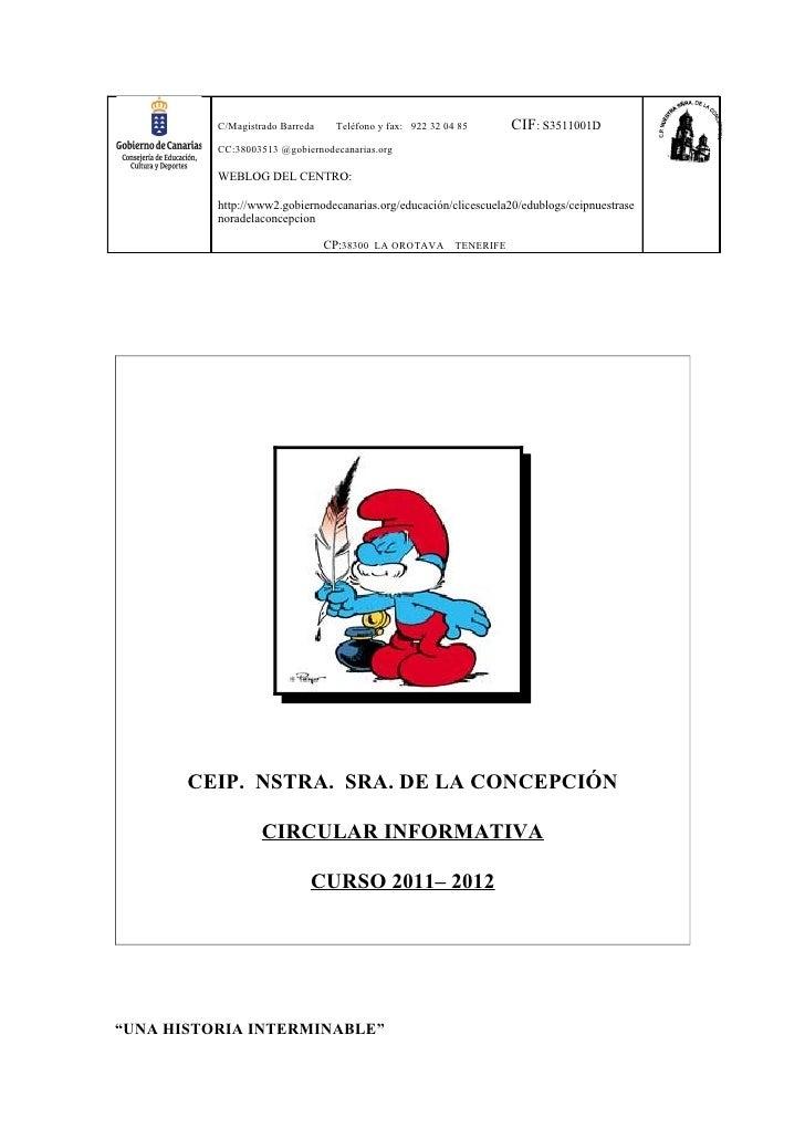 C/Magistrado Barreda    Teléfono y fax: 922 32 04 85     CIF: S3511001D          CC:38003513 @gobiernodecanarias.org      ...