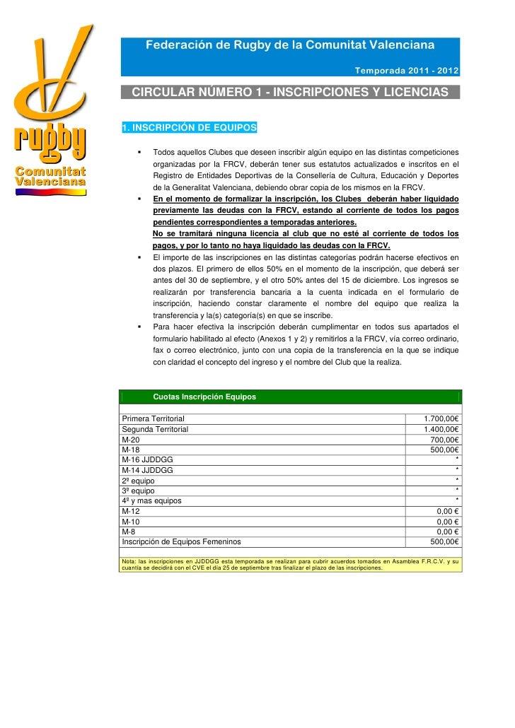 Federación de Rugby de la Comunitat Valenciana                                                                            ...