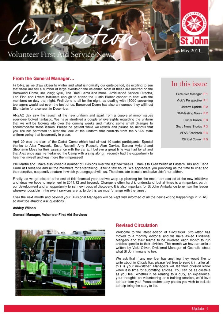 Circulation - VFAS May Newsletter