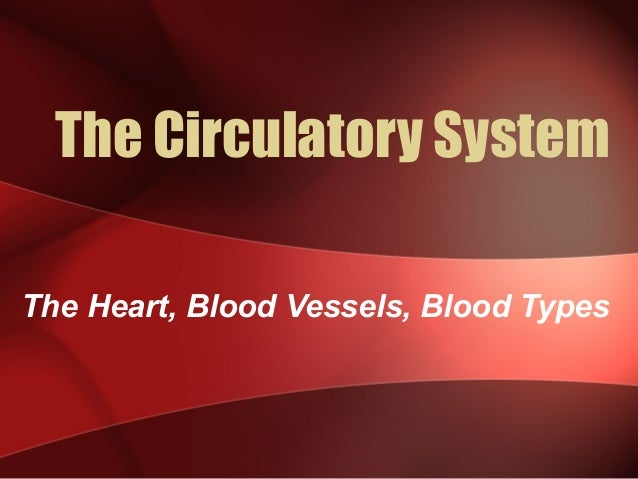 The Circulatory System The Heart, Blood Vessels, Blood Types