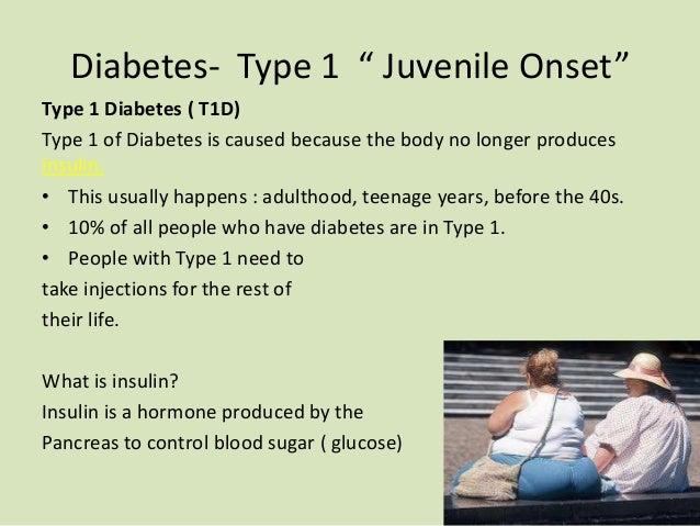 type 1 juvenile diabetes