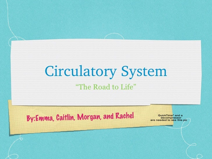 "Circulatory System By:Emma, Caitlin, Morgan, and Rachel "" The Road to Life"""