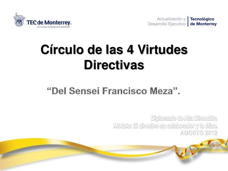 Circulo de 4 Virtudes Directivas del Sensei Francisco Meza