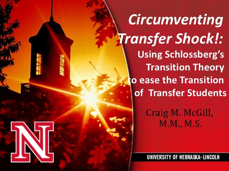 CircumventingTransfer Shock!:    Using Schlossberg's      Transition Theory to ease the Transition   of Transfer Students ...